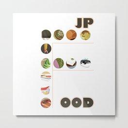 Japanese Food Bubble Zoom Metal Print