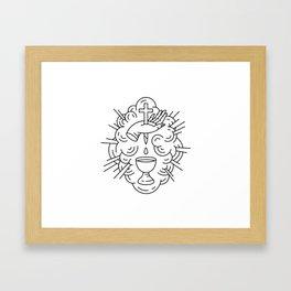 Communion Line Art Framed Art Print