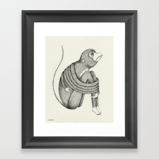 'Insecurity' Framed Art Print
