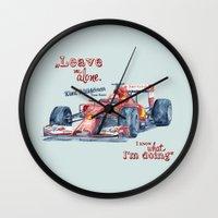 f1 Wall Clocks featuring F1 Ferrari-Kimi Räikkönen by dareba