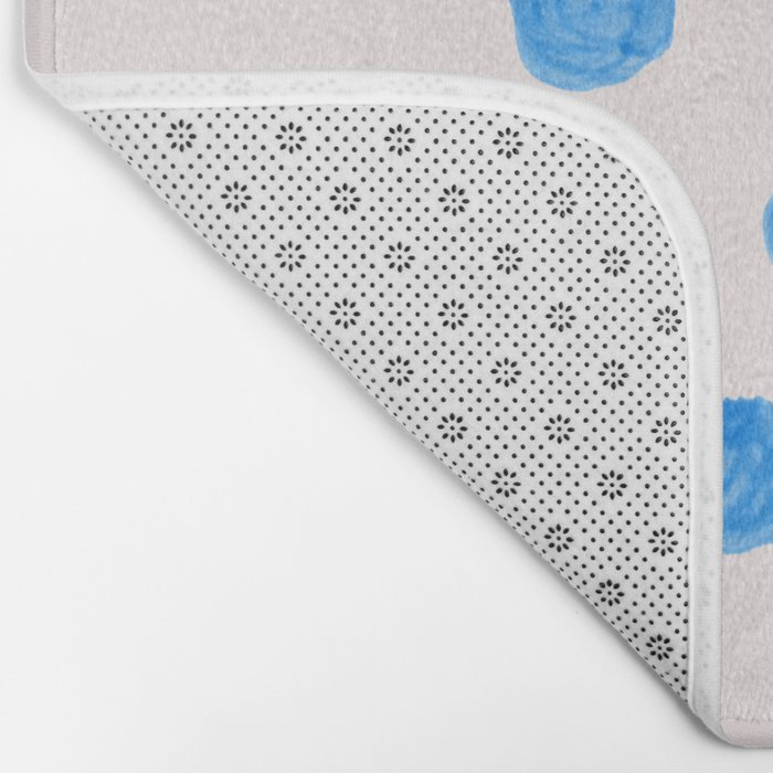 Painted blue dots Bath Mat