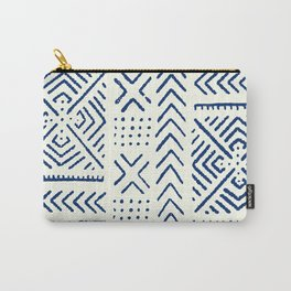 Line Mud Cloth // Ivory & Navy Carry-All Pouch