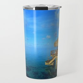 Over-the-Water Island Bungalow Travel Mug