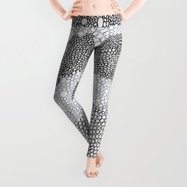 Abstract texture waves Leggings