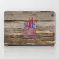 anatomical heart iPad Cases featuring Anatomical Heart by Kyle Phillips