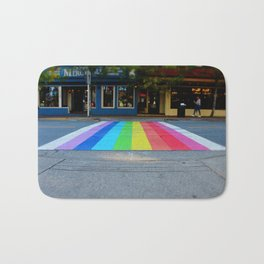 Rainbow Crosswalk Bath Mat