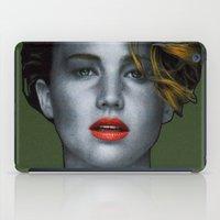 jennifer lawrence iPad Cases featuring Jennifer Lawrence by Marv Castillo