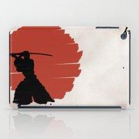 samurai iPad Cases featuring Samurai by Purple Cactus