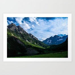 Maroon Bells.  Aspen, Colorado. Art Print