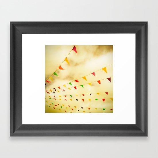 Flags & Color Framed Art Print