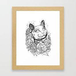 Color-Me Feline: English Short Hair Framed Art Print
