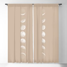 Moon Phases in Peach Blackout Curtain