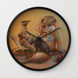 Little Painted Warrior Wall Clock