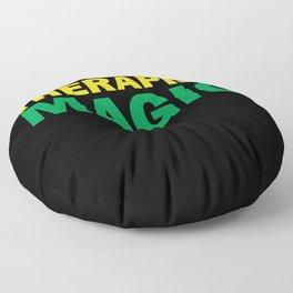 Black Therapist Magic Floor Pillow
