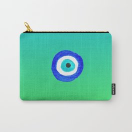 Single Evil Eye Amulet Talisman Ojo Nazar - ombre lime to tuquoise Carry-All Pouch