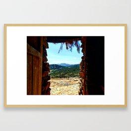 Over the door Framed Art Print