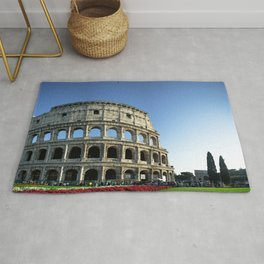 Colosseo red flowers Rug