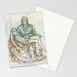 pieta statue of Michelangelo vintage style Stationery Cards