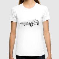 delorean T-shirts featuring DeLorean DMC-12 by Martin Lucas