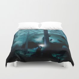 Giant Panda in a Forest Duvet Cover