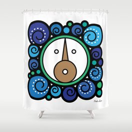 Blue Child - Niño Azul Shower Curtain