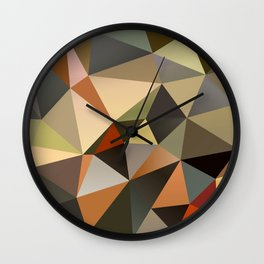 Field II - Abstract Art Low Poly Triangles Wall Clock