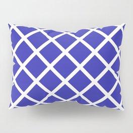 Criss-Cross (White & Navy Blue Pattern) Pillow Sham