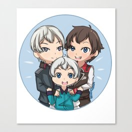 Valvrave Family  Canvas Print