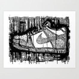 Dunk Low Ink Art Print