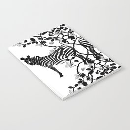 African Lace - Black & White Notebook