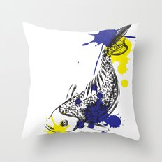 out fish Throw Pillow