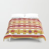 bands Duvet Covers featuring Desert Dream : Bands of Animals by Claire Lordon
