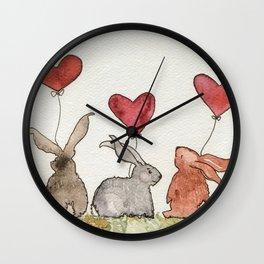 Honey Bunny Love Wall Clock