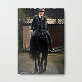 Tommy Shelby ride horse Metal Print
