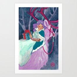 Winter Gift Art Print