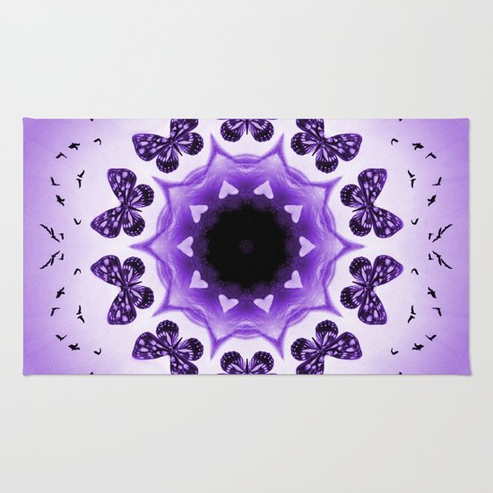 All things with wings (purple) Rug