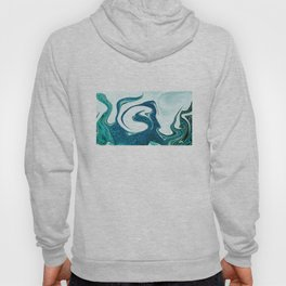 ocean waves abstract digital painting Hoody
