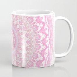 Frosted Pink Mandala Coffee Mug