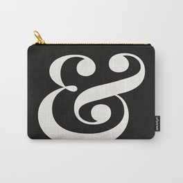 Ampersand - Delicate in Black - Typography Lovers Art Print Carry-All Pouch