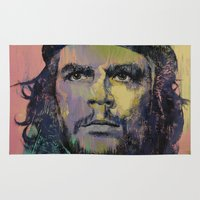 che Area & Throw Rugs featuring Che Guevara by Michael Creese