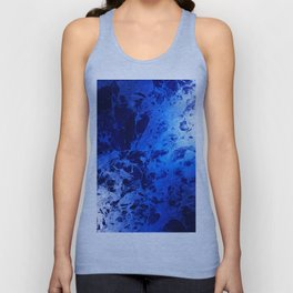 Blue Marble Dream Abstract Unisex Tank Top