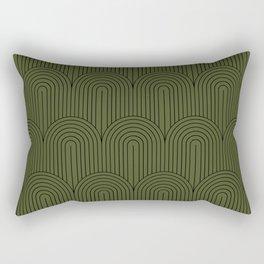 Art Deco Arch Pattern VIII Rectangular Pillow