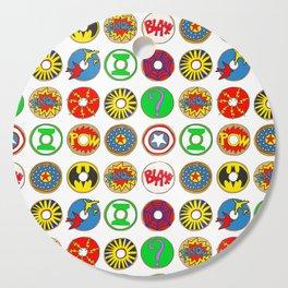 Superhero Donuts Cutting Board