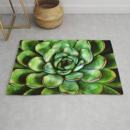 Graphic Succulent Rug