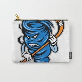 Tornado Ice Hockey Player Mascot Carry-All Pouch