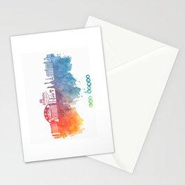 Las Vegas Nevada Skyline colored Stationery Cards