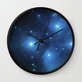 The Pleiades Star Cluster Wall Clock