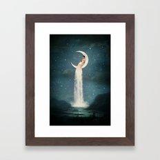 Moon River Lady Framed Art Print