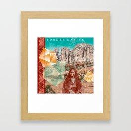 Border Native Framed Art Print