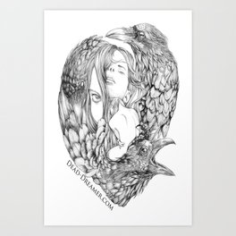 To Dream is to Die - Line Art Print